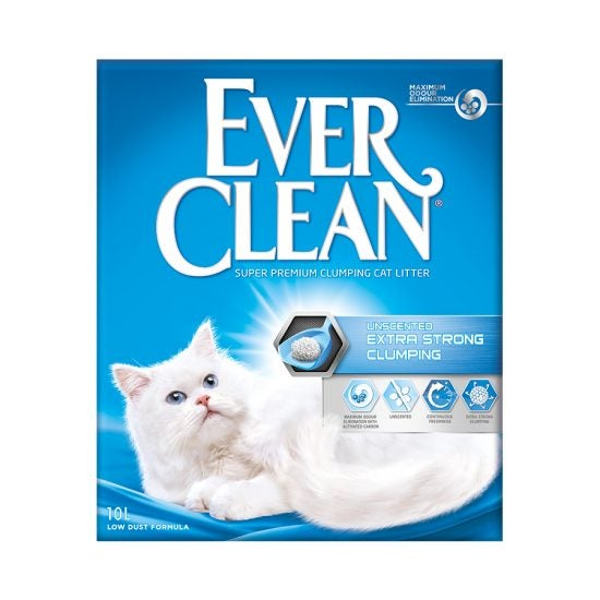 Ever Clean Super Premium Clumping Cat Litter Extra Strong Clumping Unscented Product Front Image
